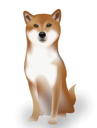 犬のお正月カード動物アイコン