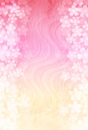 桜の花新年のカード紙の背景