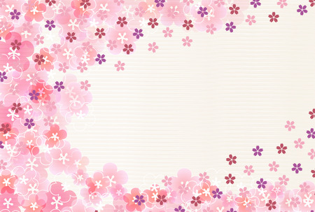 Cherry blossoms plum blossoms New Years card background
