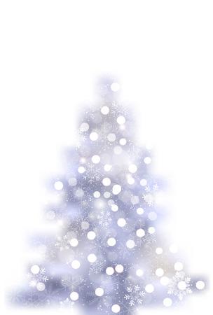 Christmas tree, snow winter icon Stock Illustratie