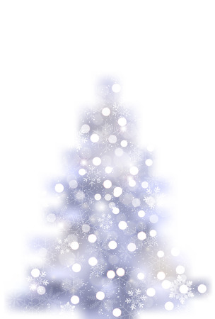 Christmas tree, snow winter icon Illustration