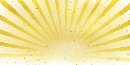 Background template with sun rising in color yellow