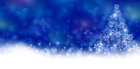 クリスマス雪冬の背景  イラスト・ベクター素材