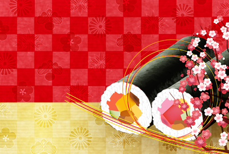 Plum blossoms sushi Background