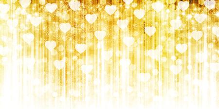 Valentine's glow heart background