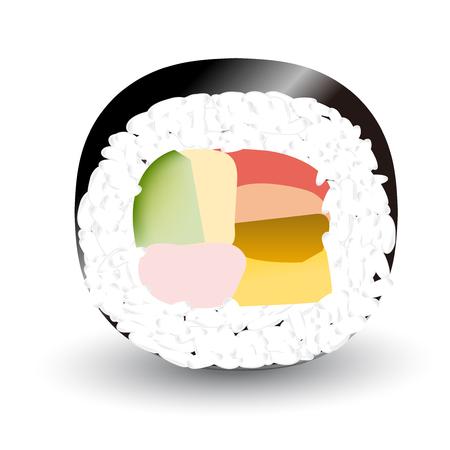 Setsubun Sushi event icon. Illustration