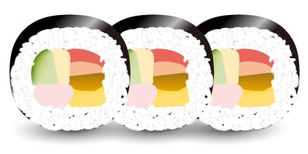절분 초밥 이벤트 아이콘입니다. 일러스트