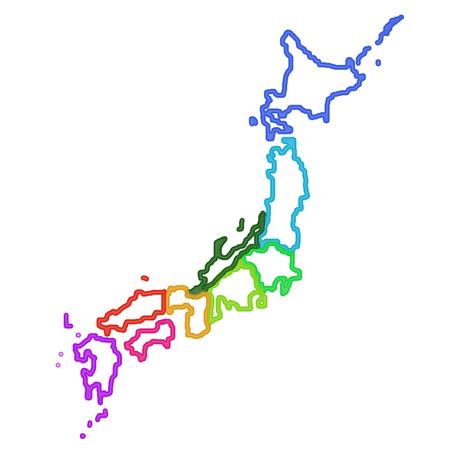 Japan Map Frame Icon Stock Photo