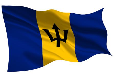 Barbados national flag flag icon