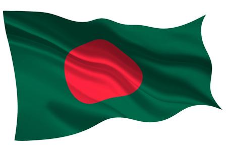 Bangladesh national flag flag icon  イラスト・ベクター素材