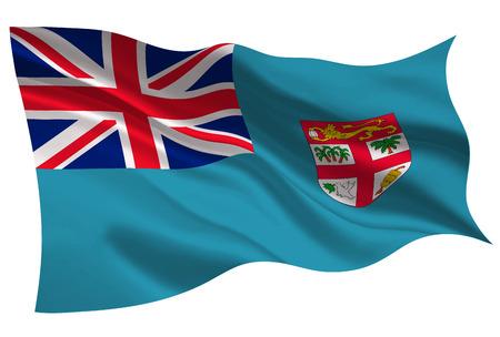 Fiji national flag icon illustration on white background.