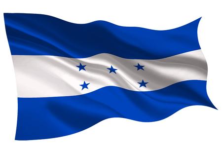 Honduras national flag icon illustration on white background.