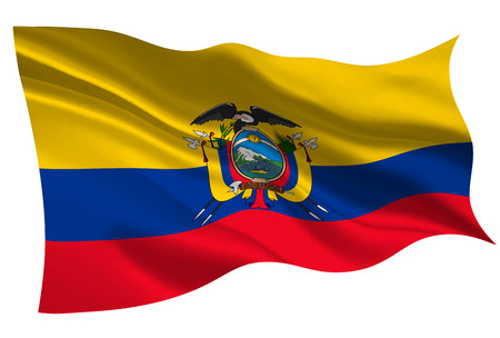 Ecuador national flag icon illustration on white background.