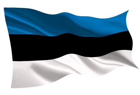 Estonia national flag icon illustration on white background.