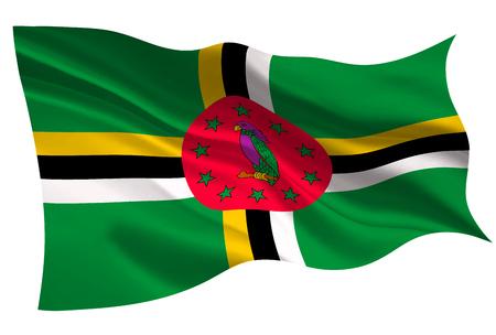 도미니카 공화국 국기 아이콘