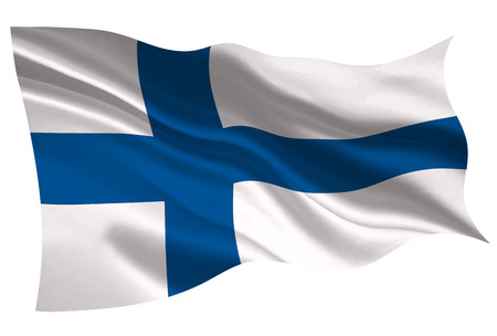 Finland national flag flag icon