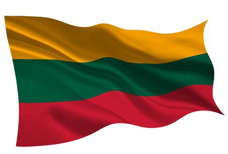 Lithuania national flag flag icon 向量圖像