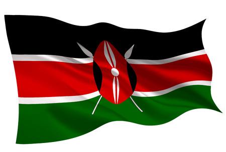 Kenya national flag flag icon 일러스트