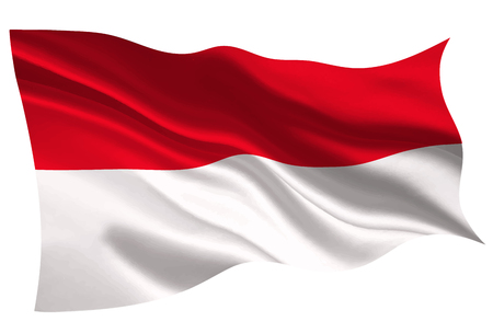 Indonesien Nationalflagge Flagge Symbol