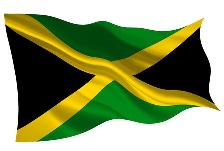 Jamaica national flag flag icon Illustration
