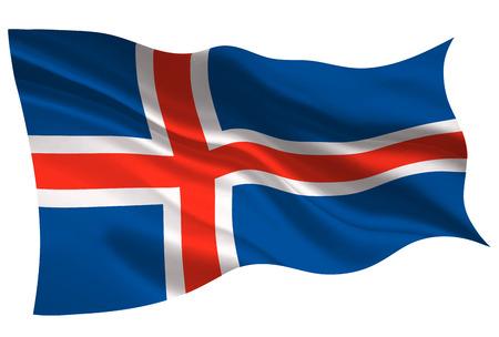 Iceland national flag. Flag icon