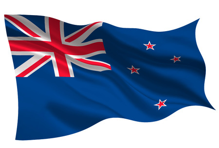 New zealand national flag. Flag icon 일러스트