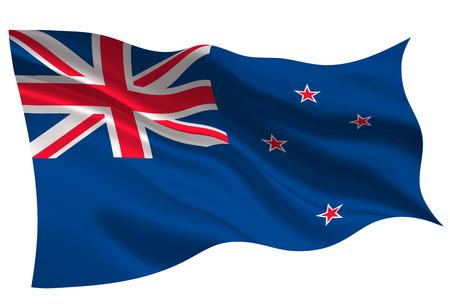 New zealand national flag. Flag icon Illustration