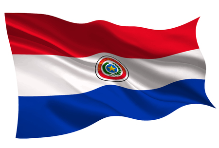 Paraguay national flag. Flag icon