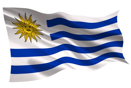 Uruguay national flag flag icon Ilustração