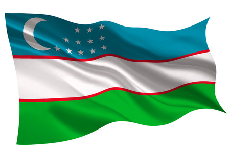 Uzbekistan national flag flag icon