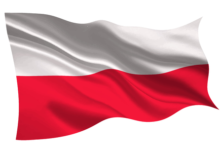 Poland national flag flag icon