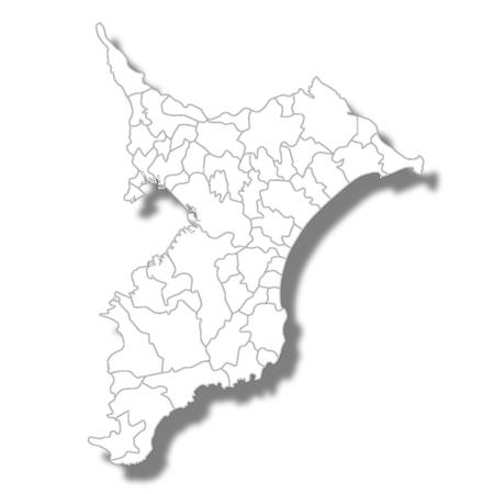 Chiba Prefecture Map white icon