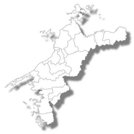 Ehime Prefecture Map white icon