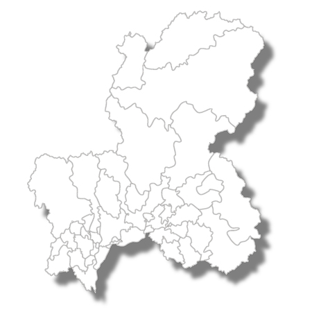 Gifu Prefecture Map white icon  イラスト・ベクター素材