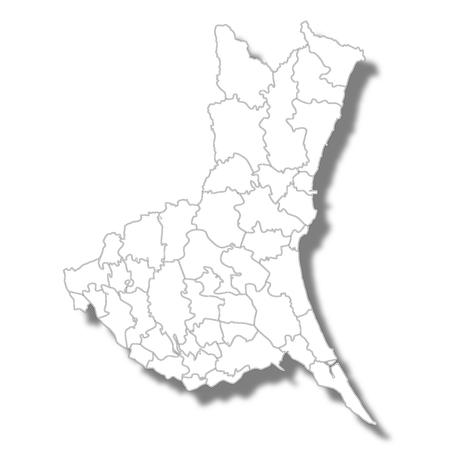 Ibaraki Prefecture Map white icon.