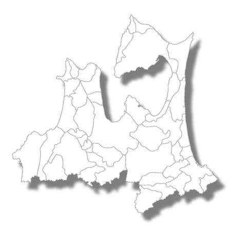 Aomori Prefecture Map white icon