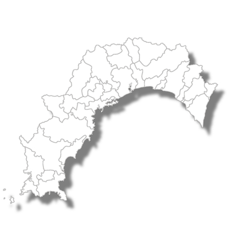 Kochi Prefecture Map white icon