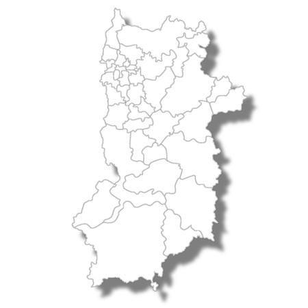 나라현지도 흰색 아이콘 일러스트