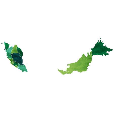 Malaysia World map country icon 일러스트