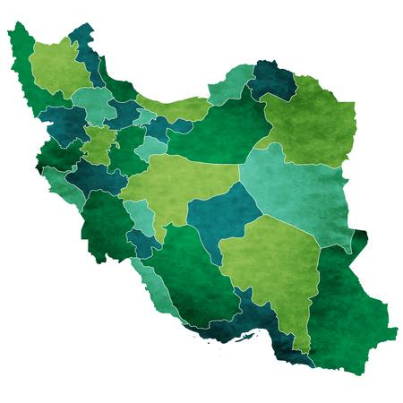 이란 세계지도 국가 아이콘 일러스트