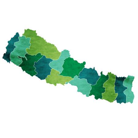 ネパール世界地図国アイコン  イラスト・ベクター素材