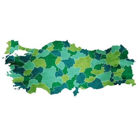 Turkey World map country icon Reklamní fotografie - 93763249