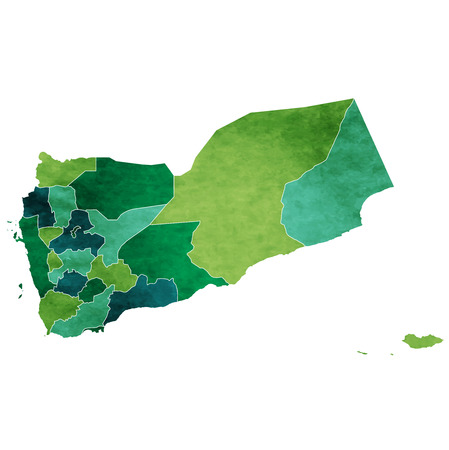 Yemen World map country icon.