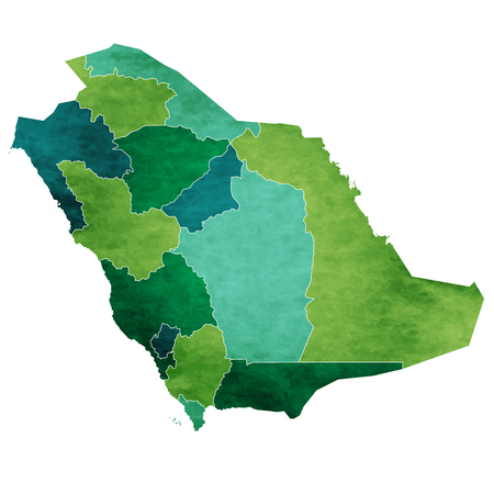 Saudi Arabia World map country icon. Illustration