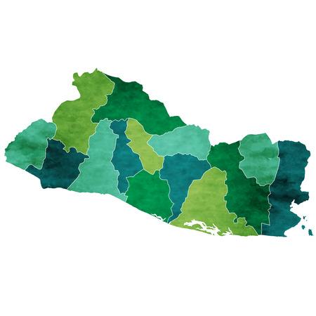 El Salvador World map country icon Ilustração