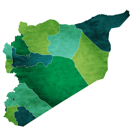 Syria World map country icon Illustration