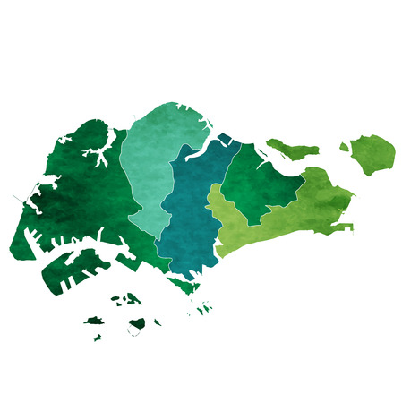 Singapore World map country icon Illustration