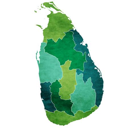 Sri Lanka World map country icon Illusztráció