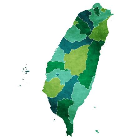대만 세계지도 국가 아이콘 일러스트
