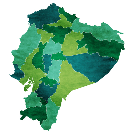 Ecuador World map country icon Ilustração